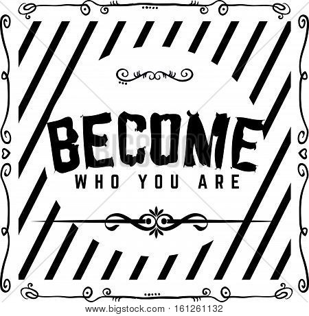 become who you are icon vintage retro
