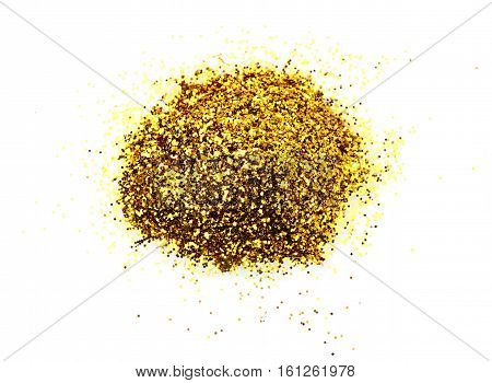Heap Of Golden Glitter For Makeup