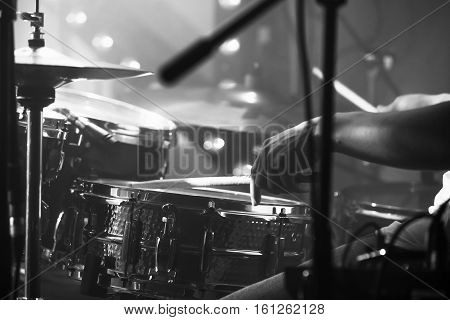 Black And White Live Music Background
