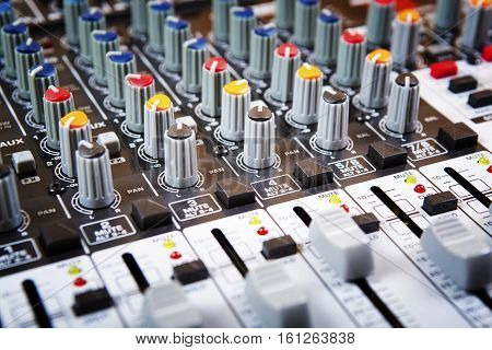Sound music mixer control panel. Sound Control. Mixer sequencer. Background