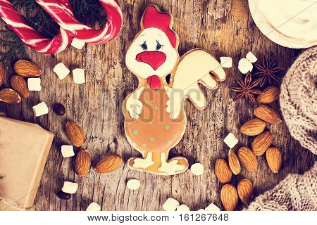 Gingerbread In The Form Of A Rooster