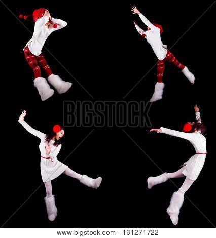 Collection Of Christmas Woman / Girl Acrobats