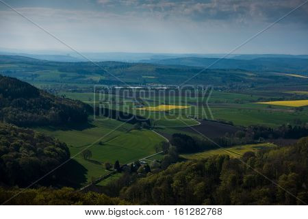 Forests And Fields Of Lower Saxony In Germany