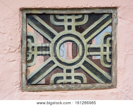 Detail from a wall at Portmeirion Wales near the Anchor and Fountain.