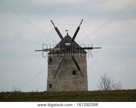 the uniquely beautiful destination windmill skyline in late fall