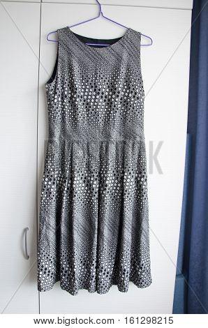 Grey Silver Formal Female Dress