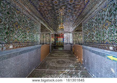 Aran va Bidgol Iran - October 18 2016: Interior of Shrine of Hilal ibn Ali in Aran va Bidgol city