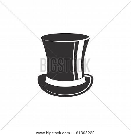 Vintage top hat. Male head cap. old fashion clothes. Gentelmen style. Tophat. Vector illustration