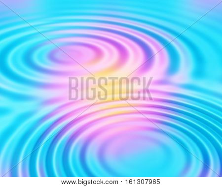 Bright colorful abstract background with circular ripples pattern