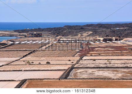 Lanzarote Saltworks Salinas De Janubio Colorful Canary Islands