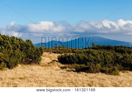 Beautiful Autumn Beskidy Mountains Landscape