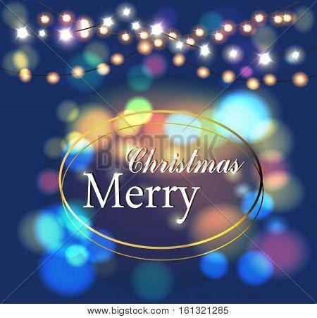 Merry Christmas magic. flickering, lights, happy holiday