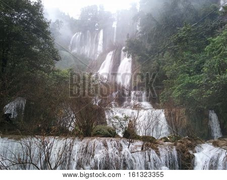 Thi Lo Su Water Fall.beautiful waterfall in tak province, thailand