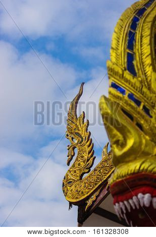 thai serpent in temple look wonder and amazing