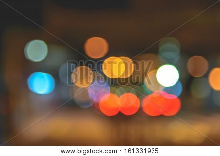 abstract bokeh lights background. - Stock Photo