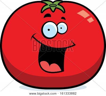 Cartoon Tomato Smiling