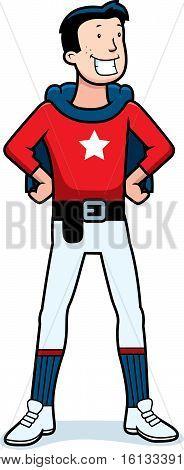 Cartoon Superhero Sidekick