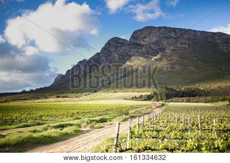 Landscape images of the dramatic light over the winelands of the western cape just outside worcester in the western cape of south africa