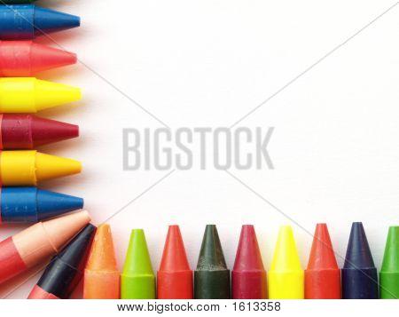 Wax Crayon Border
