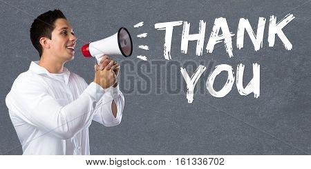 Thank You Young Man Megaphone