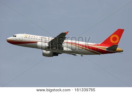 Chengdu Airlines Airbus A320 Airplane