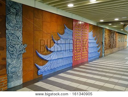 Decorations At The Subway Station In Taipei, Taiwan