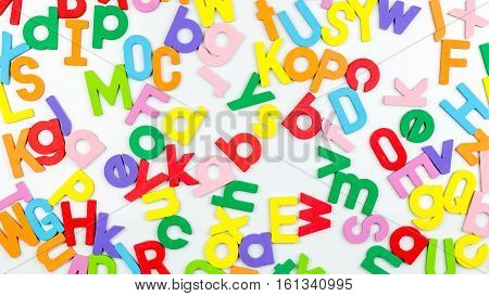 Magnetic Alphabetic Jumble On Whiteboard