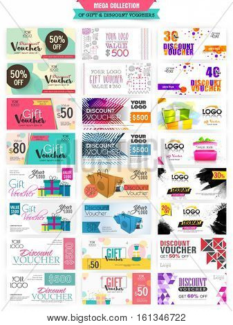 Mega collection of Sale and Discount website headers or banners for business concept. poster