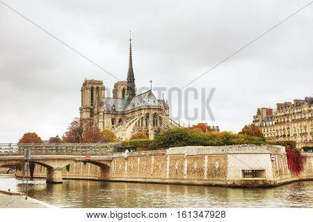 Notre Dame de Paris cathedral in Paris France