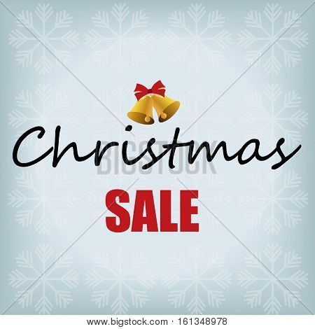 Christmas sale design template. Vector illustration. Holiday