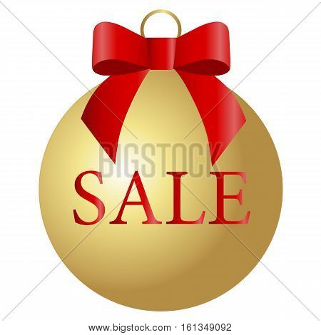 Christmas sale design template ball. Vector illustration. Holiday