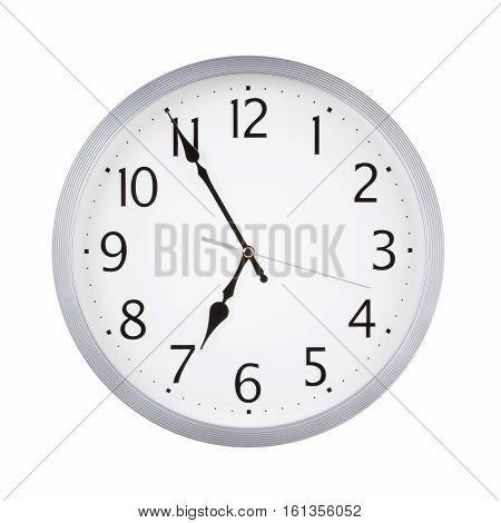 Five to seven on the round clock dial
