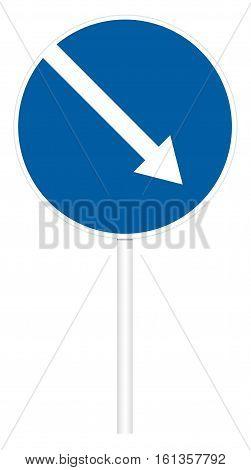 Prescriptive Traffic Sign - Direct Right