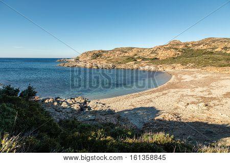 Deserted Beach On Coast Of Desert Des Agriates In Corsica