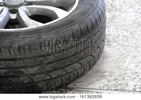 The image of a car wheel