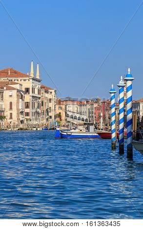 Grand Canal In Venice, Sunny Day
