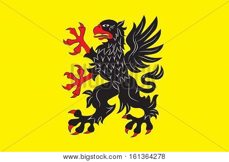 Flag of Sodermanland is a historical province on the south eastern coast of Sweden. Vector illustration