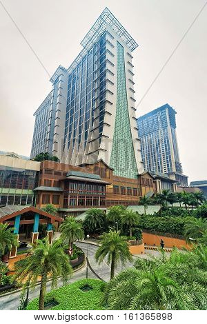 Macao China - March 8 2016: Macau casino luxury resort on Cotai Strip in Macao in China.