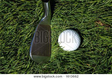 A Golf Club And Ball