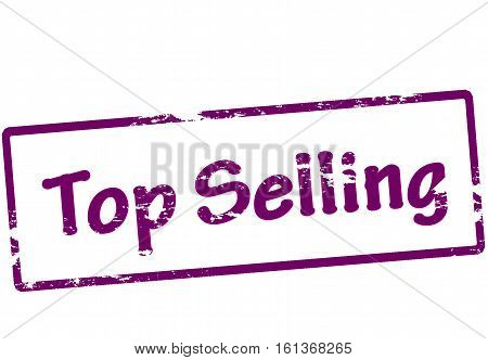 Stamp with text top selling inside vector illustration