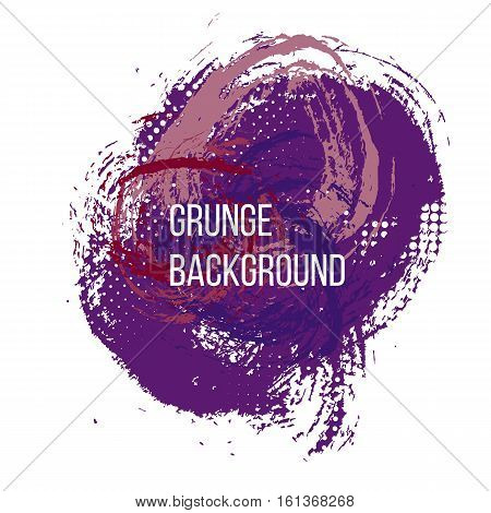 Grunge colorful backgound. Abstract poster. Vector illustration.