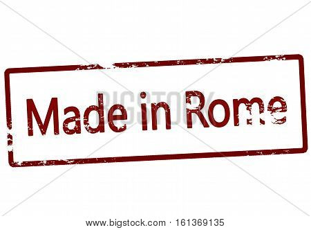 Stamp with text made in Rome inside vector illustration