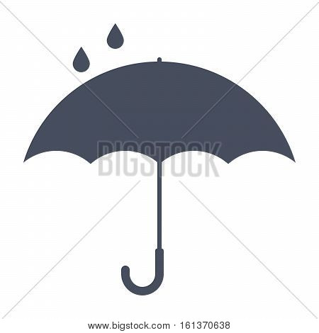 Umbrella under a drops labeling for keep away from water, keep dry
