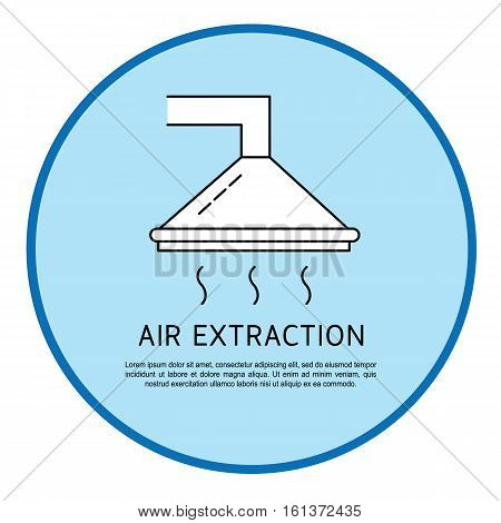 Air extraction vector icon isolated on background. Air extraction logo on blue background. Vector illustration.