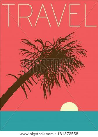 Vector Minimal Design Poster - Travel Illustration