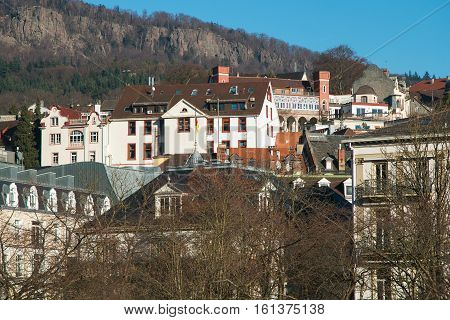 Panoramic view of Baden Baden in Germany