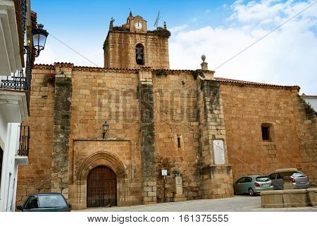 Santa Marina church in Canaveral of Caceres Spain by the Via de la Plata way exterior image from public ground