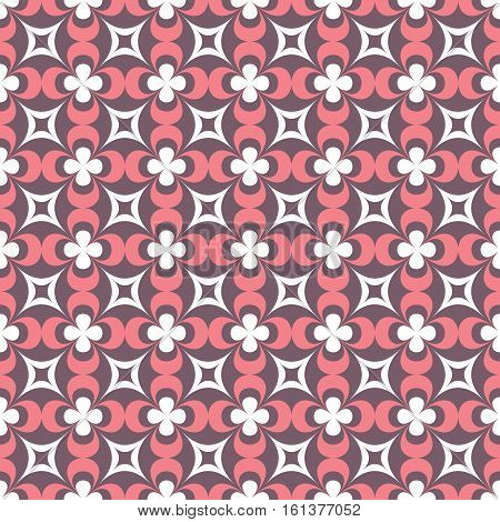 Seamless Pattern Of Geometric Shapes In A Classic Style.