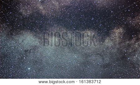 Eagle Constellation Beautiful Night Sky. Milky Way Aquila Constellation.