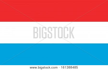 flat luxembourgian flag in the colors blue, red and white